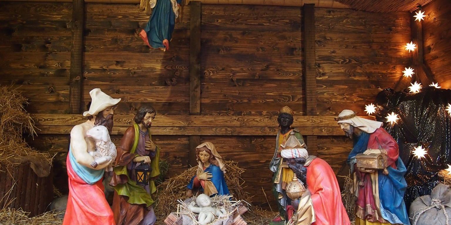 Nativity scene incarnation of Jesus Christ